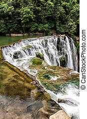 Shifen Waterfall - Closeup waterfall, Shifen Waterfall, New...