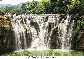 Shifen Waterfall - Deep forest Waterfall, Shifen waterfall,...