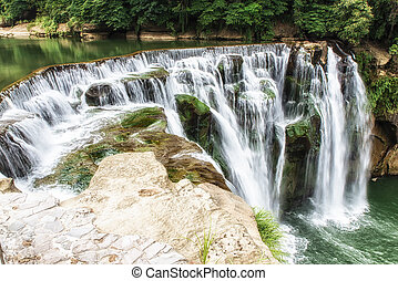 Shifen Waterfall - Shifen waterfall scenery, Shifen...