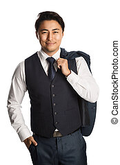 Handsome fashionable businessman - Attractive well dressed...