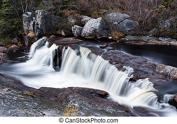 Small waterfall - Long exposure of a small waterfall on a...