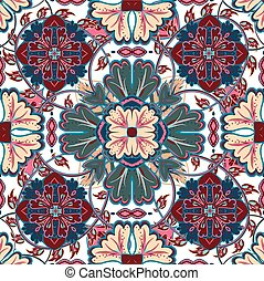 Seamless floral patterns set. Vintage polka dot backgrounds and borders with flowers, laces and leave. Vector ornaments.