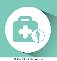 silhouette person medical first aid icon design vector...