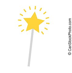 magic wand star isolated icon vector illustration design