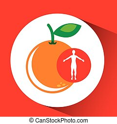 silhouette orange fruit design vector illustration eps 10