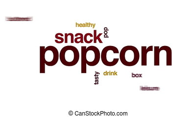 Popcorn animated word cloud.
