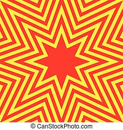 Hot Eight-Pointed Star Abstract Background Vector...