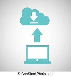 computer connected cloud download