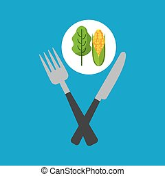 fresh eating lettuce with cob