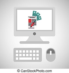 computer network desktop payment vector illustration eps 10