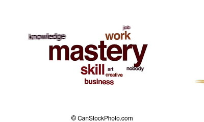 Mastery animated word cloud.
