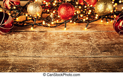 Christmas decorations with copy space. - Christmas frame...