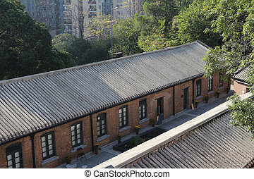red brick Built Structure at hong kong - a red brick Built...