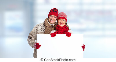 Happy loving couple. - Happy smiling couple in love over...