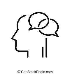 inner dialog illustration design