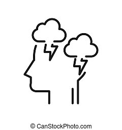 depression mode illustration design