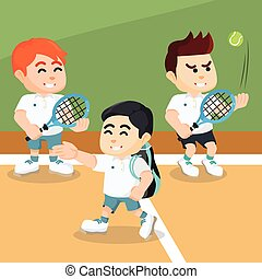 tennis player on indoor