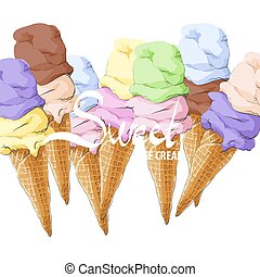 A wide range of tasty ice cream - Large selection of tasty...