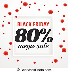 black friday mega sale poster with red dots
