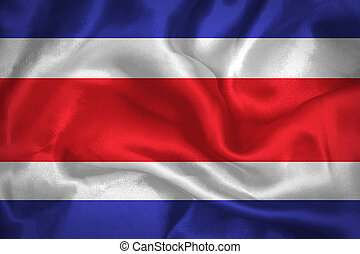Costa Rica waving flag