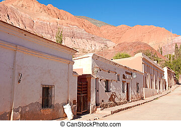 Street of Jujuy province, Argentina. - On the street of...