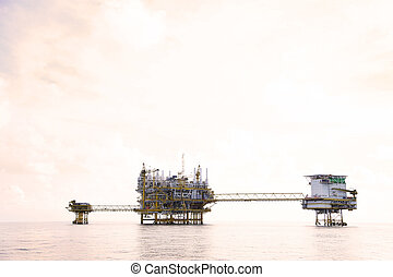 Offshore construction platform for production oil and gas....