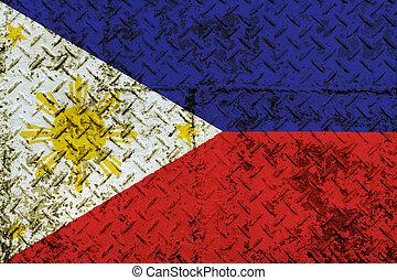 Philippines Flag on steel wall