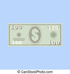 dollars, money banknote - 100 dollars, money banknote....