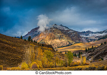 Boulder Mountains near Ketchum Idaho Fall Colors