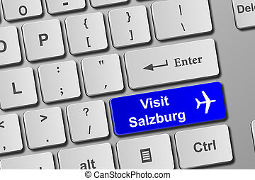 Visit Salzburg blue keyboard button. Buy online tickets...