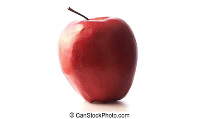 Isolated red apple in white background