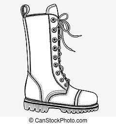 Shoe, hand-drawn in sketch style. Vector illustration of a...