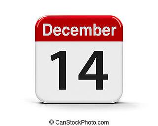 14th December - Calendar web button - The Fourteenth of...