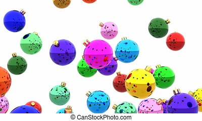 Colorful Christmas balls 3D animation