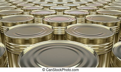 Food cans 3D animation