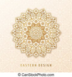 Ethnic vector pattern mandala design for invitations, cards,...