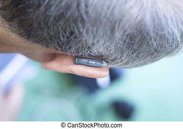 Modern digital hearing aid device for deaf and hard of...