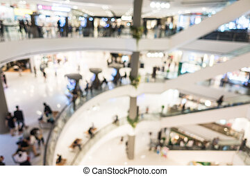 Abstract blur shopping mall and retails store interior for...