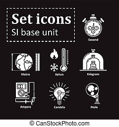Icon set on basic unit. Vector Illustration