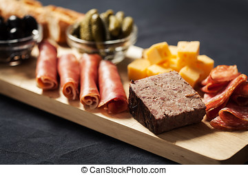 Cold cuts - Charcuterie assortment, cheese, olives and...