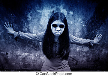 Ghost - Scary background for halloween concept and book...