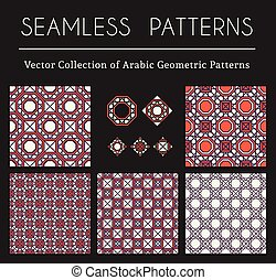 Vector Geometric Patterns - Seamless textures collection...