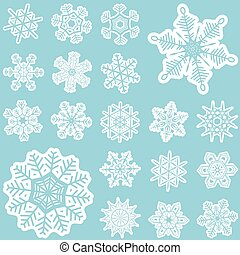 collection of snow stars