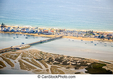 Public beach in Faro, Algarve, Portugal - Public beach in...