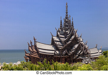 Sanctuary of The Truth in Pattaya. Thailand