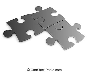 3d puzzle concept isolated on white background