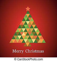 christmas tree in rainbow colors vector illustration