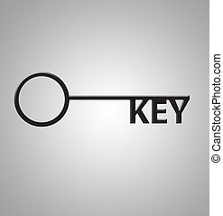 Key - This is an illustration of the word Key as keys on a...
