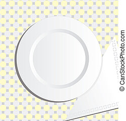 Plate and napkin vector illustration