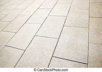 Stone floor view - Floor of a street with stone tiles.